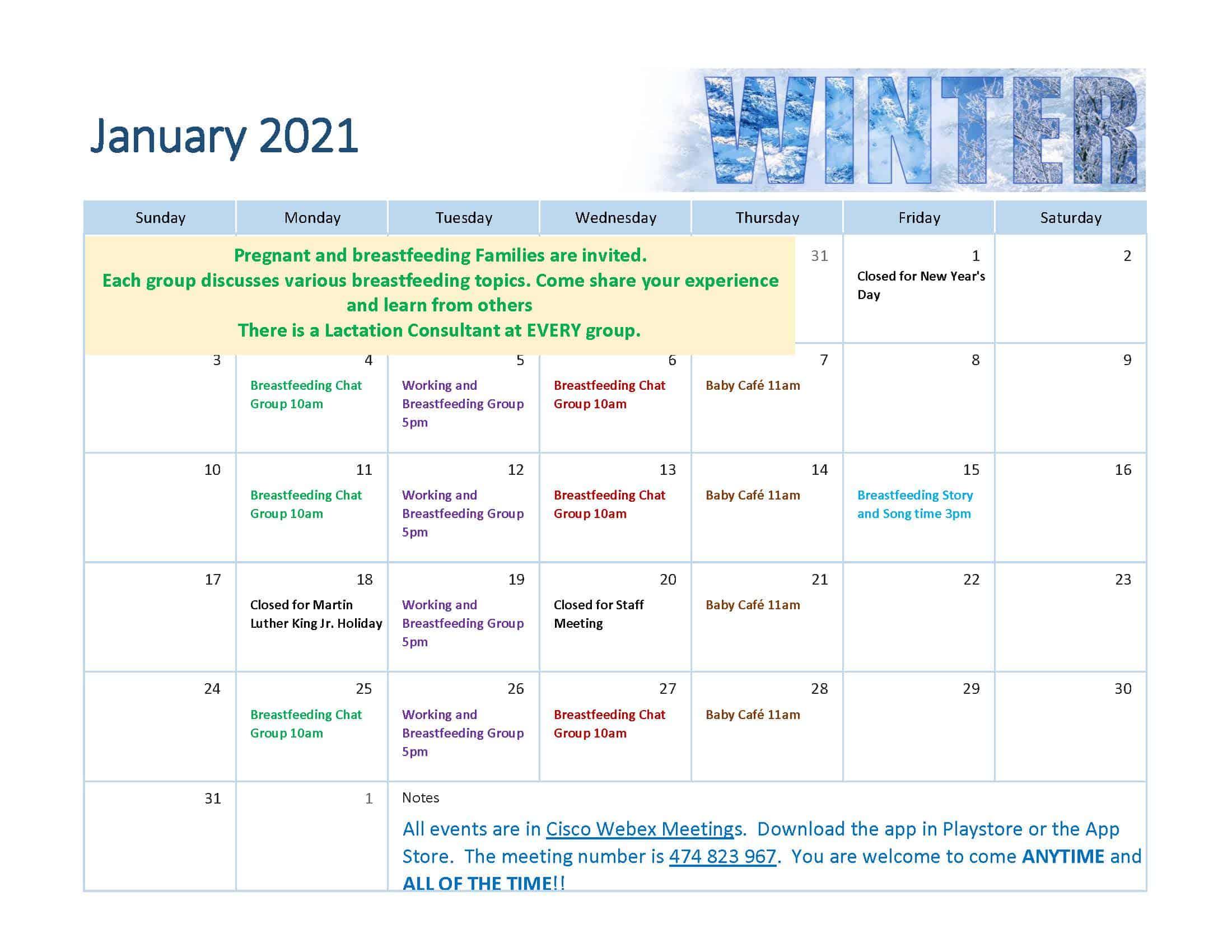 Click to view the calendar