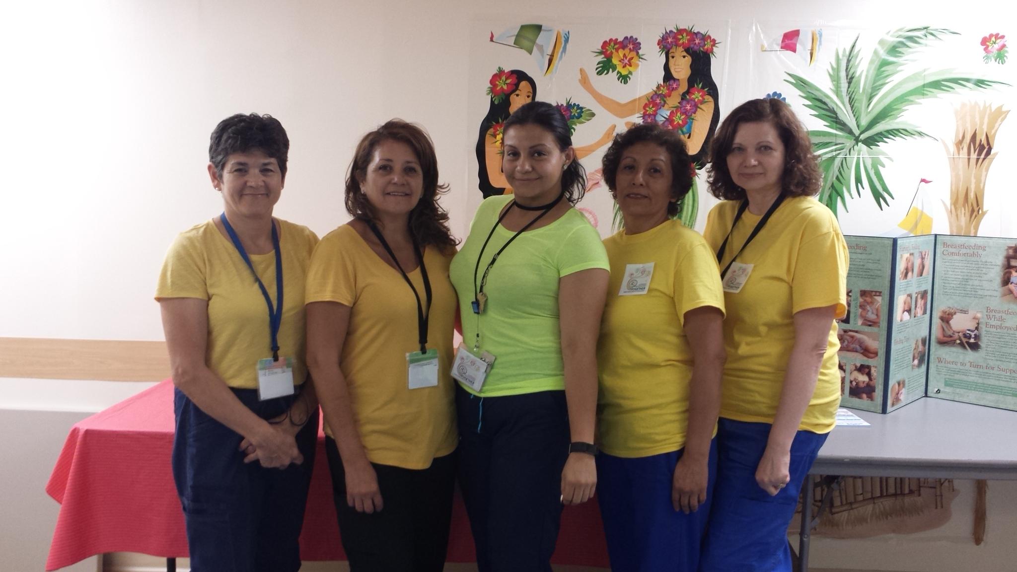 Staff During Breastfeeding Week